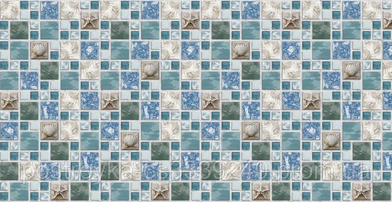 Декоративные Панели ПВХ Мозаика морской бриз