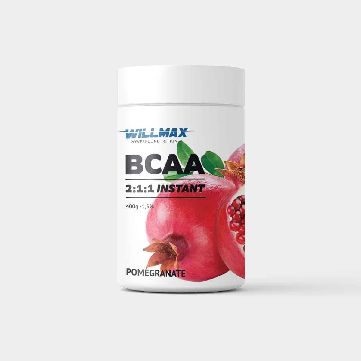 Амінокислоти Товарwillmax BCAA 2-1-1 400г. ГРАНАТ