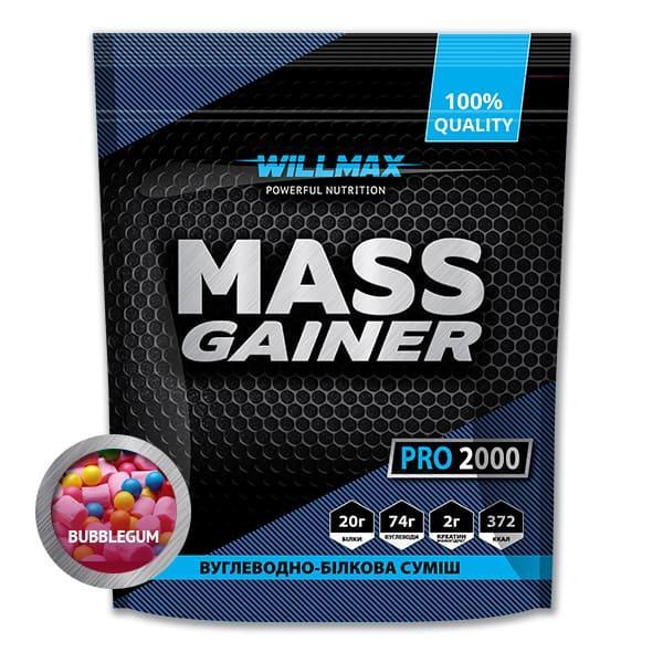 Гейнер Willmax Mass Gainer 2кг БАБЛ-ГАМ