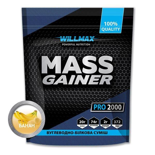 Вітамінний Товарwillmax Mass Gainer 2 кг БАНАН