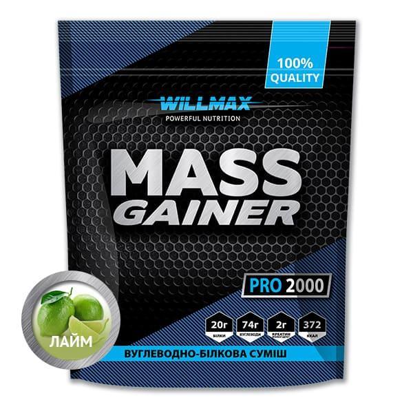 Вітамінний Товарwillmax Mass Gainer 2 кг ЛАЙМ