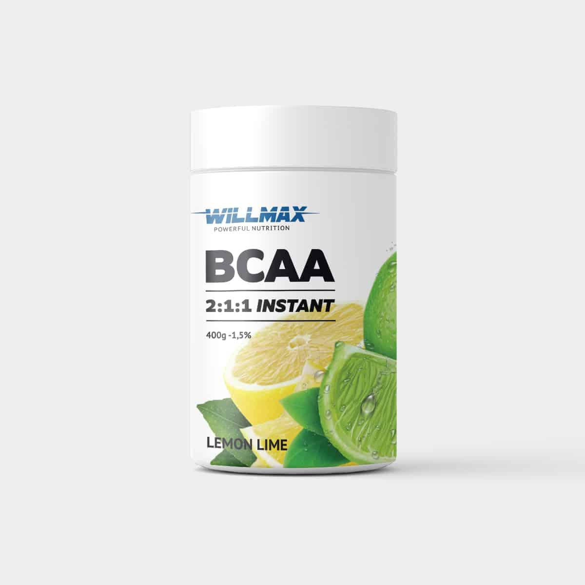 Аминокислоты Willmax BCAA 2:1:1 400г. ЛИМОН-ЛАЙМ