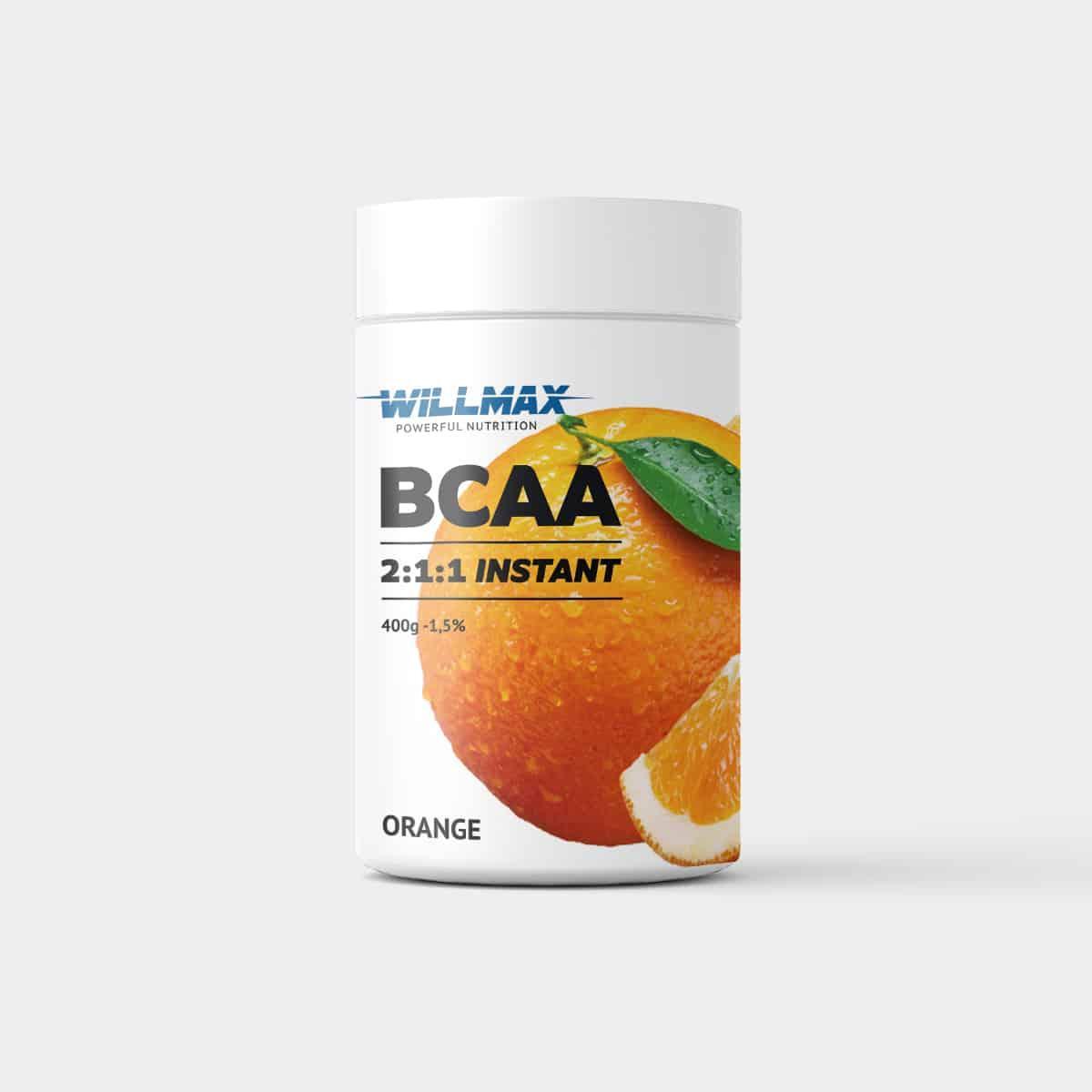 Аминокислоты Willmax BCAA 2:1:1 400г. АПЕЛЬСИН