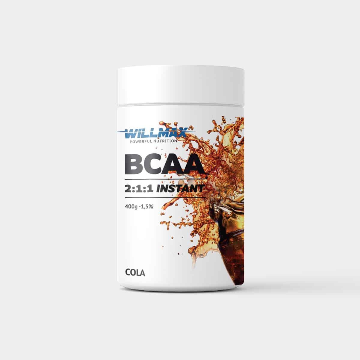 Амінокислоти Товарwillmax BCAA 2:1:1 400г. КОЛА