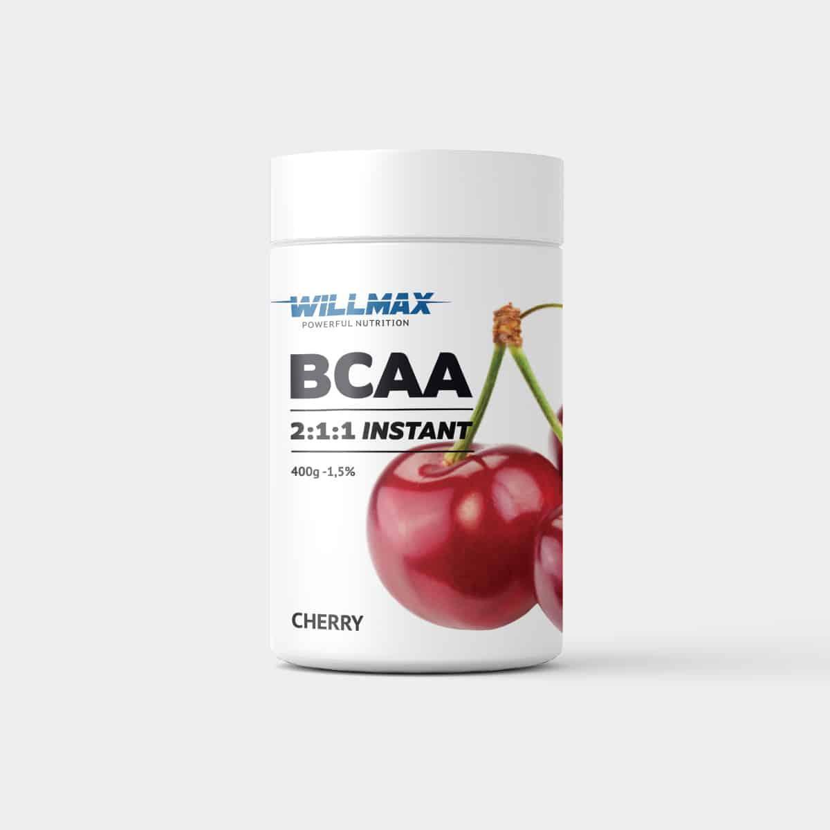 Аминокислоты Willmax BCAA 2:1:1 400г. ВИШНЯ