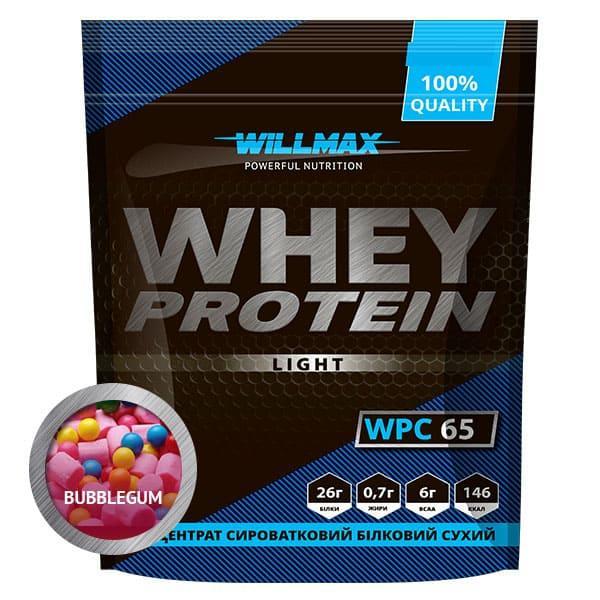 Протеїн Товарwillmax WHEY PROTEIN 65% 1кг БАБЛ ГАМ