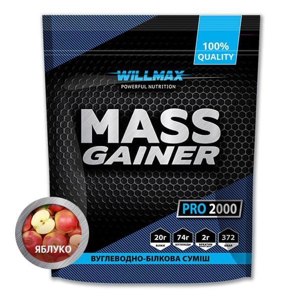 Вітамінний Товарwillmax Mass Gainer 2 кг ЯБЛУКО
