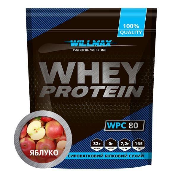 Протеїн Товарwillmax WHEY PROTEIN 80% 920г ЯБЛУКО
