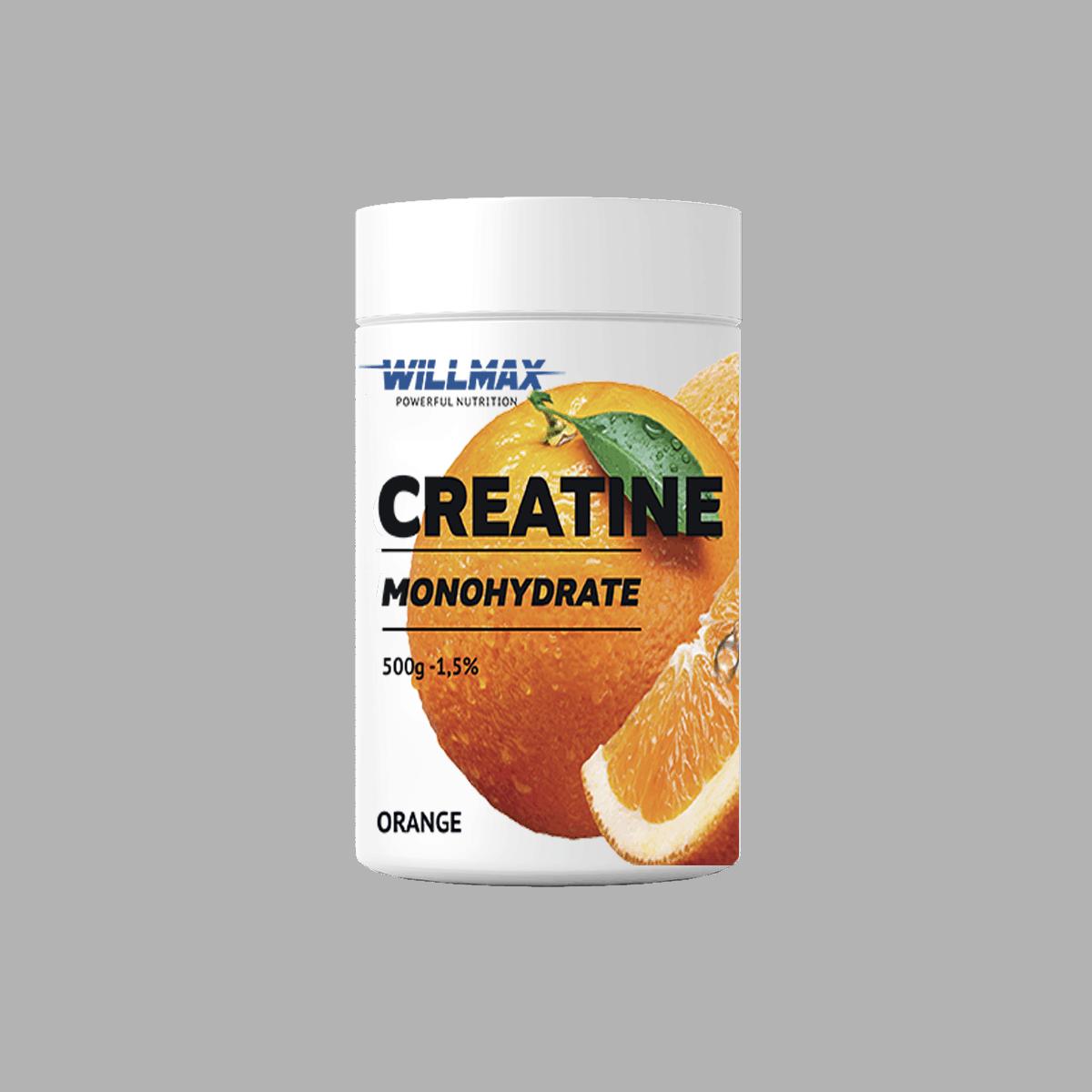 Креатин Товарwillmax Creatine Monohydrate 500g АПЕЛЬСИН