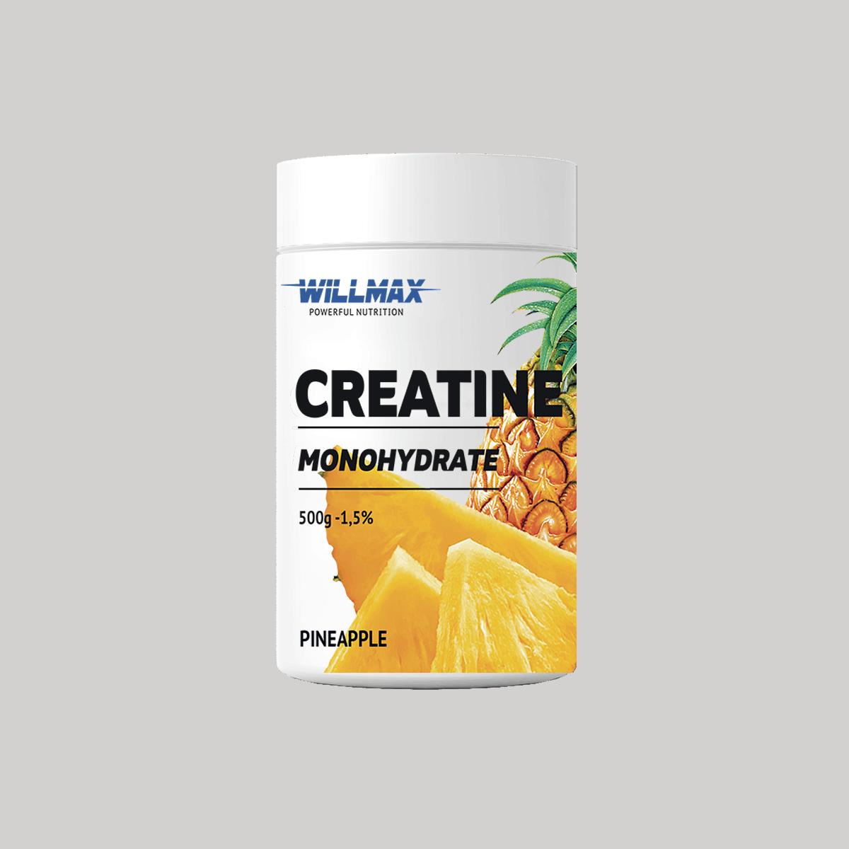 Креатин Willmax Creatine Monohydrate 500g АНАНАС