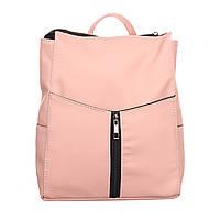 Летний рюкзак для женщин розового цвета из кожзама