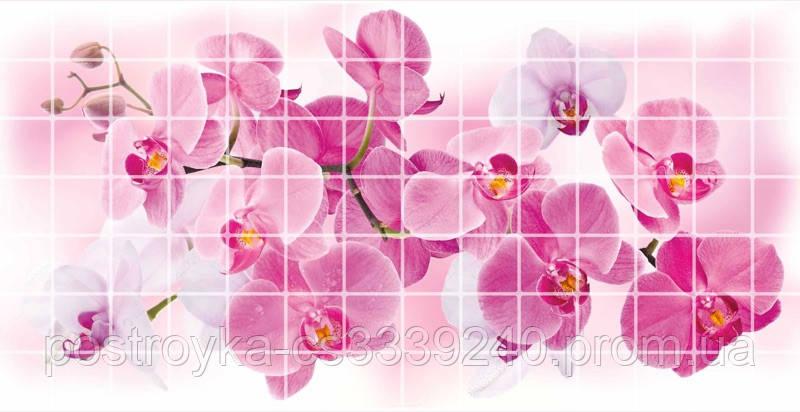 Декоративные Панели ПВХ Мозаика орхидея розея