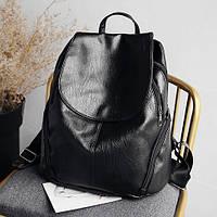 Стильный женский рюкзак на магните черного цвета