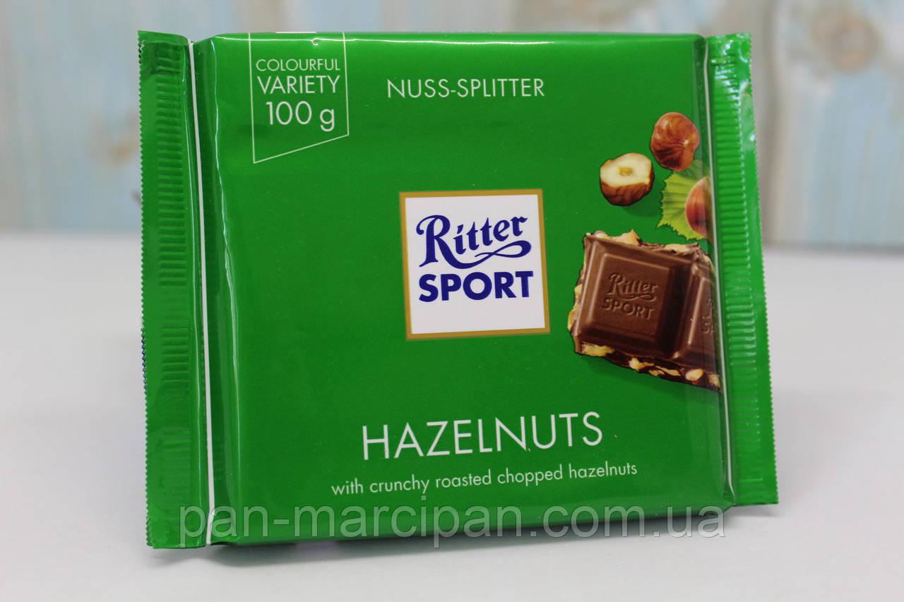 Шоколад Ritter sport (молочний горіх дріблений) 100г Німеччина