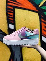 Женские кеды Nike Air Force 21416 розовые