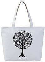 Белая текстильная сумка для шопинга