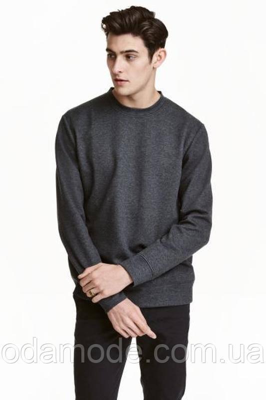 Свитшот мужской серый h&m