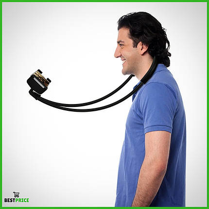 Держатель универсальный на шею для телефона Phone Holder Black, фото 2