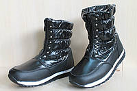 Теплые дутики на девочку, подростковая зимняя обувь, черные сапожки тм Tomm р.31,32,33,36,37,38