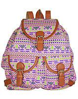 Рюкзак для женщин из коттона с принтом