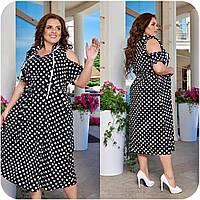 Праздничное платье женское Софт Размер 48 50 52 54 56 58 60 62 64 В наличии 5 цветов