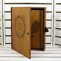 Блокнот деревянный А5 в подарочной деревянной коробке