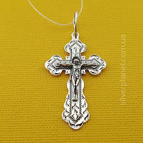 Серебряный крестик по отличной цене. Православный кулон из серебра