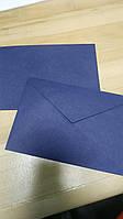 Синий крафт конверт С6, ЭКО 80г\м. клапан треугольный, 114*162 мм, фото 1
