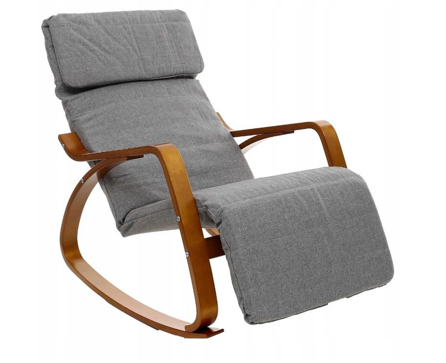 Крісло-гойдалка LCR сіро-коричневий (9258)