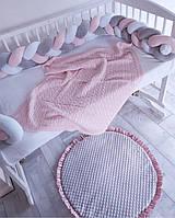 Пледик детский хлопковый в кроватку