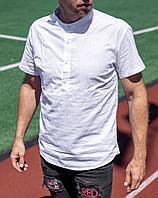 Мужская льняная рубашка короткий рукав Сл 1504