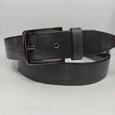 Мужской кожаный ремень с классической пряжкой L046