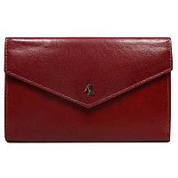 Женский кожаный кошелек бордовый вертикальный Rovicky N210-RBA Red