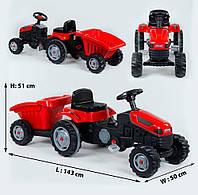Детский веломобиль - трактор «Pilson» 07-316 Red (с прицепом)