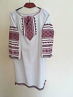 Сукня жіноча сірий льон ручна робота 50-52, фото 1