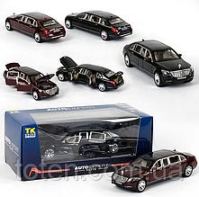 Машинка метал EL 3619 ТК Group М1:24 Mercedes Benz с открывающимися дверями, 2 цвета,
