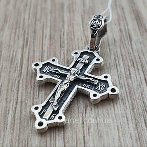 Красивейший серебряный мужской Православный крестик из серебра 925