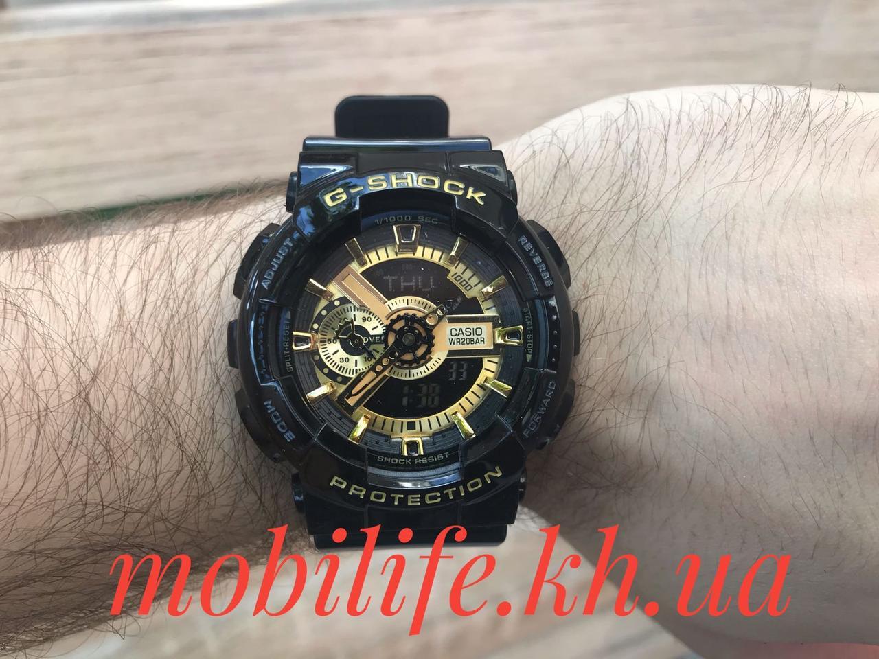 Наручные часы Casio G-SHOCK/Высокое Качество/Черные с Золотом/