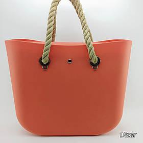 Сумка из каучука формы Obag оранжевая Dizar