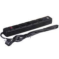 Мережевий фільтр-подовжувач Greelite на 5 розеток 2 USB 3 м