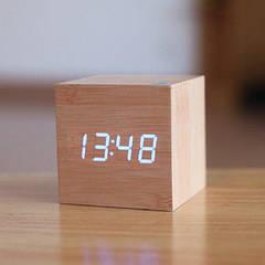 Часы деревянные куб ZJ-008