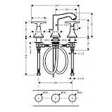 METROPOL Classic смеситель для умывальника двухвентильный хром/золото, фото 2
