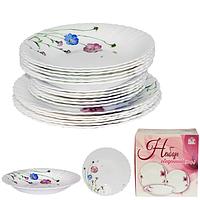 """Набор посуды обеденный """"Весенние цветы"""", 18 предметов, стеклокерамика"""