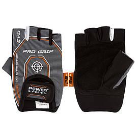 Рукавички рукавички для тренування в залі Pro Grip EVO Power System PS-2250E, сірі