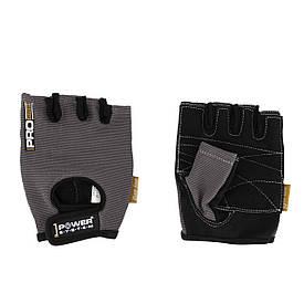 Атлетичні рукавички для занять у залі Pro Power Grip System PS-2250, сірі