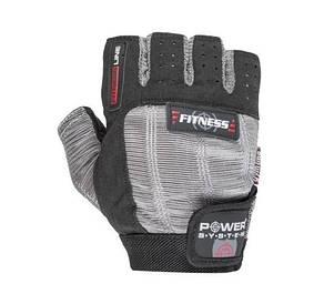 Чоловічі рукавички без пальців для фітнесу і важкої атлетики Fitness PS-2300 Power System, чорно-сірі