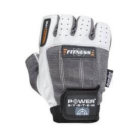 Перчатки для спорта, фитнеса и тяжелой атлетики мужскиеFitness PS-2300  Power System, серо-белые