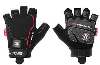 Чоловічі рукавички для фітнесу і тренажерного залу man's Power PS-2580 Power System, чорний