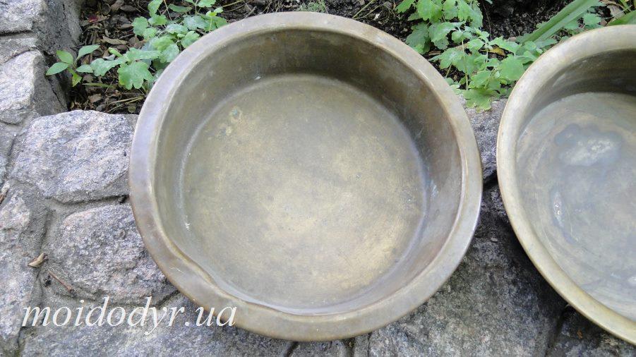 Медный тазик  (диаметр 350 мм, дно 270 мм)