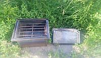 Коптильня Средняя для горячего копчения с гидрозатвором и поддоном для сбора жира на 2 уровня, фото 1